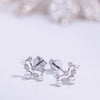 DEW | Natural Diamond & Tiny Pearl 18kt Ear Studs