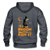 If the Broom Fits Ride It - charcoal gray