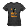 If the Broom Fits Ride It - heather black