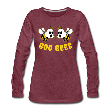 Boo Bees - heather burgundy