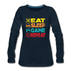 Eat Sleep Game Repeat - deep navy