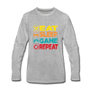 Eat Sleep Game Repeat - heather gray