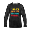 Eat Sleep Game Repeat - charcoal gray