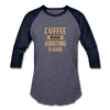 Coffee Because Adulting is Hard - heather blue/navy
