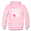 Faith Hope Love - light pink