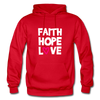 Faith Hope Love - red
