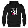 Faith Hope Love - black