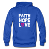 Faith Hope Love - royal blue