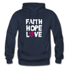 Faith Hope Love - navy