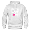 Faith Hope Love - light heather gray