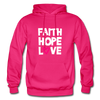 Faith Hope Love - fuchsia