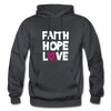 Faith Hope Love - charcoal gray