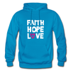 Faith Hope Love - turquoise