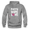 Faith Hope Love - graphite heather