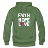 Faith Hope Love - military green