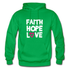 Faith Hope Love - kelly green