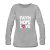 Faith Hope Love - heather gray