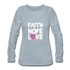 Faith Hope Love - heather ice blue