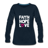 Faith Hope Love - deep navy