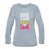 Give a Good Impact and Love - heather ice blue