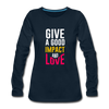 Give a Good Impact and Love - deep navy