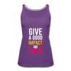 Give a Good Impact and Love - purple