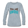 You Are Unique - heather ice blue