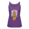 Never Give Up - purple