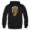 Never Give Up - black