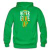 Never Give Up - kelly green