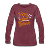 Pray And Believe - heather burgundy