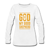 God is my Good Shepherd - white