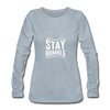 Stay Humble - heather ice blue