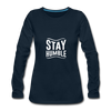 Stay Humble - deep navy