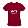 Act For Success - dark red
