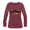 Stay Positive - heather burgundy