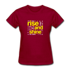 Rise And Shine - dark red