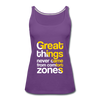 Great Things Never Comes from Comfort Zone - purple