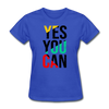 Yes You Can - royal blue