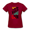 Yes You Can - dark red