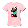 Yes You Can - pink