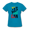 Yes You Can - turquoise