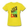 Yes You Can - yellow