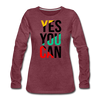 Yes You Can - heather burgundy