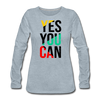 Yes You Can - heather ice blue