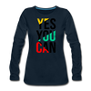 Yes You Can - deep navy