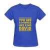 You are a Winner Like King David - royal blue