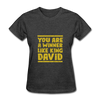 You are a Winner Like King David - heather black