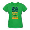 The Hope Of Glory Crist is in you - bright green