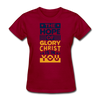 The Hope Of Glory Crist is in you - dark red